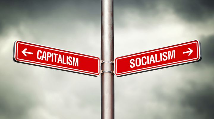 Image result for capitalism - socialism sign