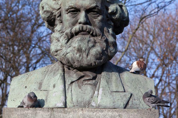 A statue of Karl Marx in Kaliningrad, Russia.