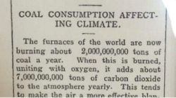 To προφητικό άρθρο για την κλιματική αλλαγή πριν από 106 χρόνια που