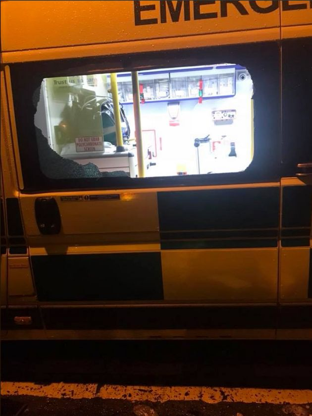 An ambulance was broken into in Hanley, Stoke-on-Trent early
