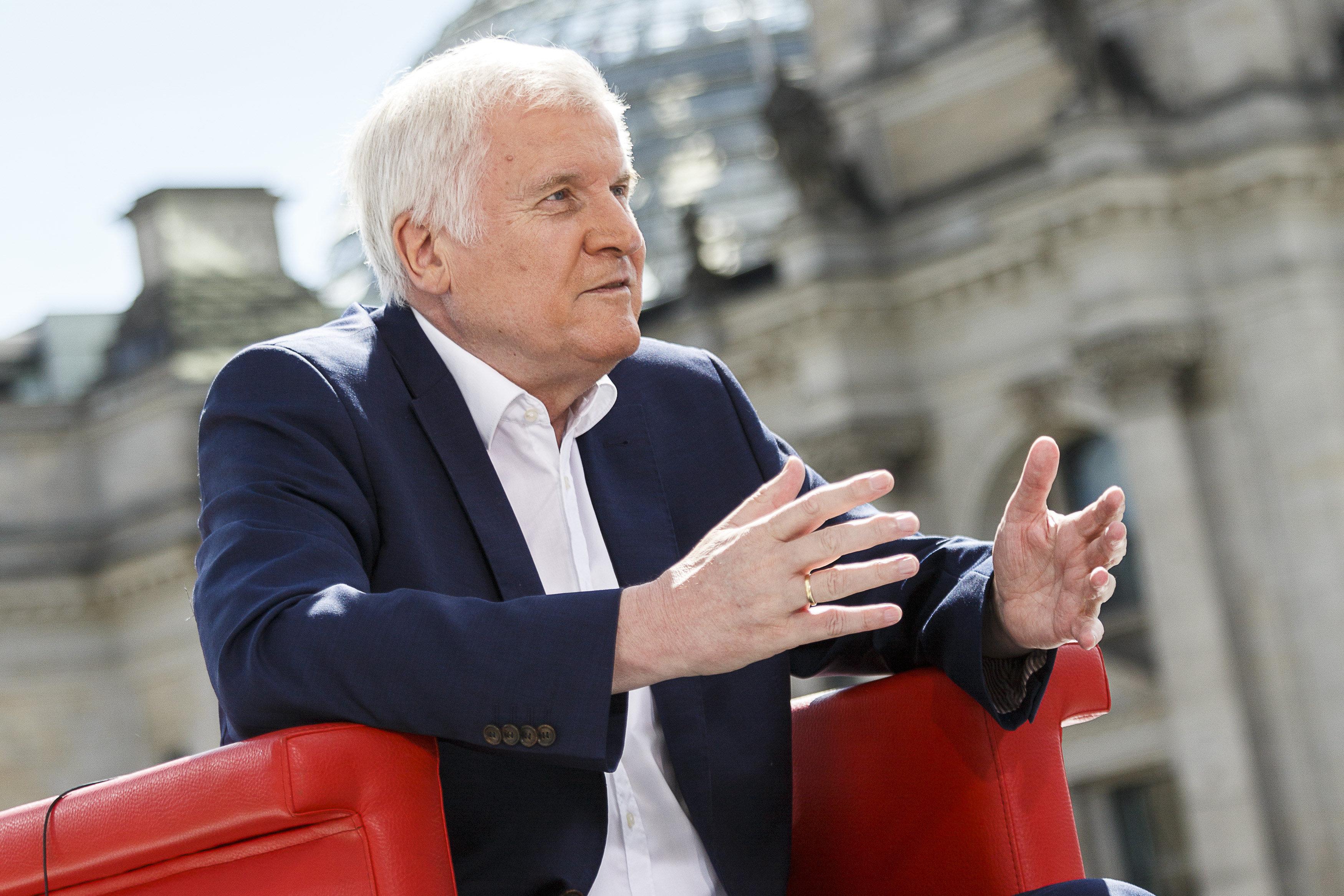 Horst Seehofer beim Sommerinterview mit der