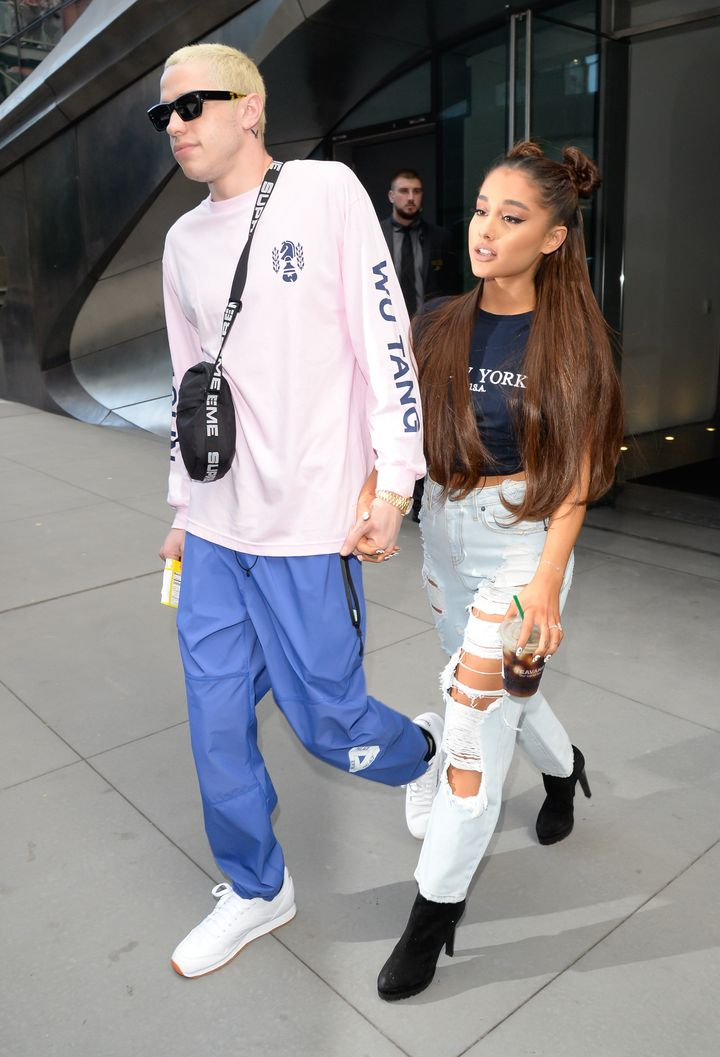 Ariana Grande and Pete Davidson spotted walking in New York City in July.