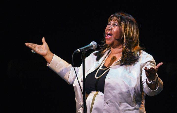 Aretha Franklin performing in New York City on Sept. 18, 2012.