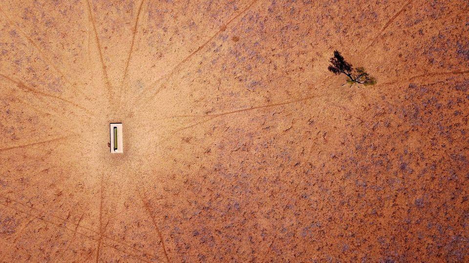 An aerial photograph of a farm near Walgett, New South