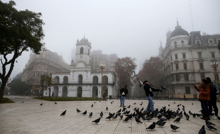 Fog covering Argentinian capital Buenos Aires in late June.