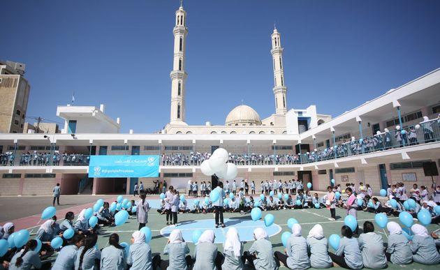 Une école de l'UNRWA à Ramallah en mars