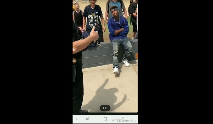 A high school student named Valentino says a teacher at Apache Junction High School in Arizona called the police on him for n