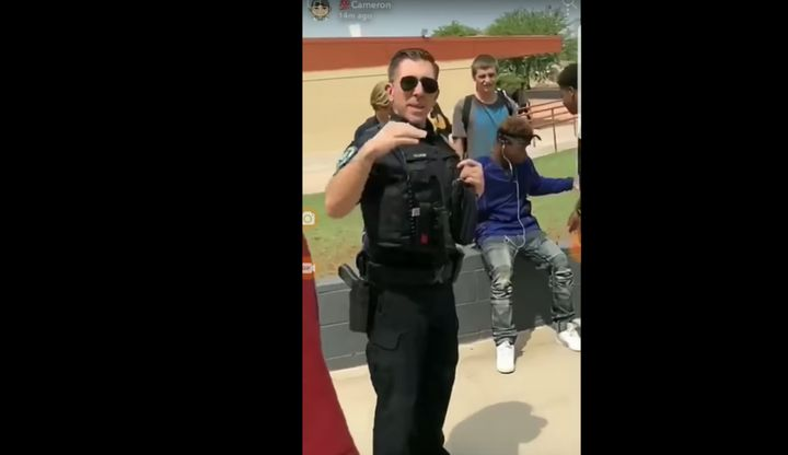 A student at Apache Junction High School in Arizona was filmed being arrested for wearing a bandana to school.
