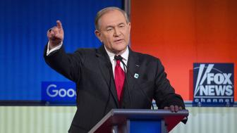 Jim Gilmore, former governor of Virginia and 2016 Republican presidential candidate, speaks during the Republican presidential candidate debate at the Iowa Events Center in Des Moines, Iowa, U.S., on Thursday, Jan. 28, 2016. Candidates from both parties are crisscrossing Iowa, an agricultural state of about 3 million people in the U.S. heartland that will hold the first votes of the 2016 election on Feb. 1. Photographer: Daniel Acker/Bloomberg via Getty Images