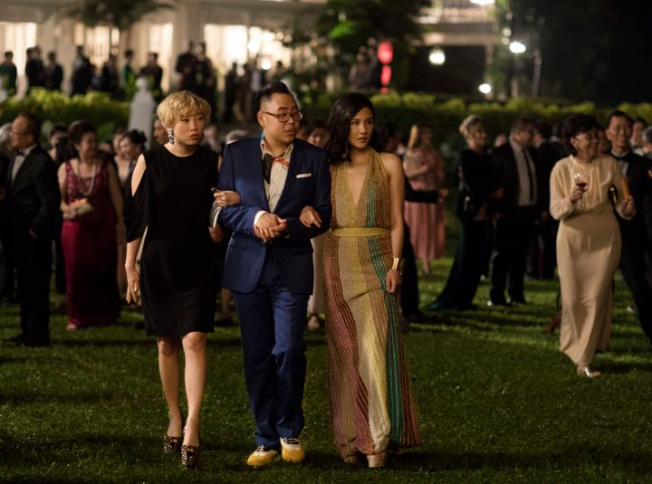 Peik Link, Oliver and Rachel, in her Missoni dress, at one of the many parties in the film.
