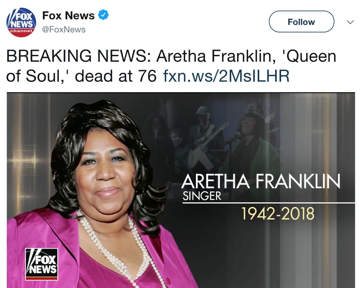 The Huge Problem With Fox News' Apology For Confusing Aretha Franklin And Patti