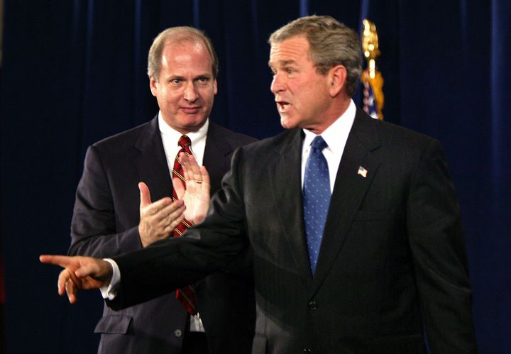 Vin Weber, the former congressman turned lobbyist, pictured with President George W. Bush at the 20th anniversary of the Nati