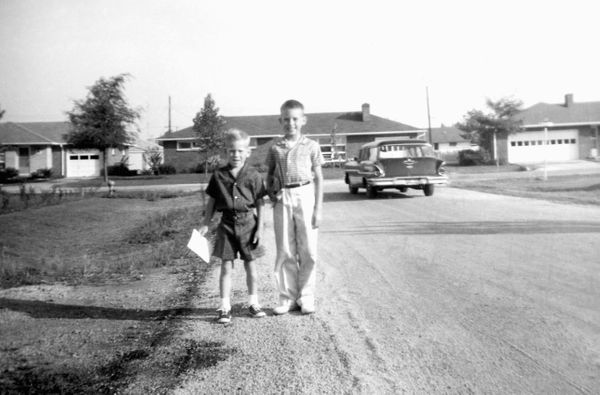 Two brothers about to start the new school year, circa 1964.