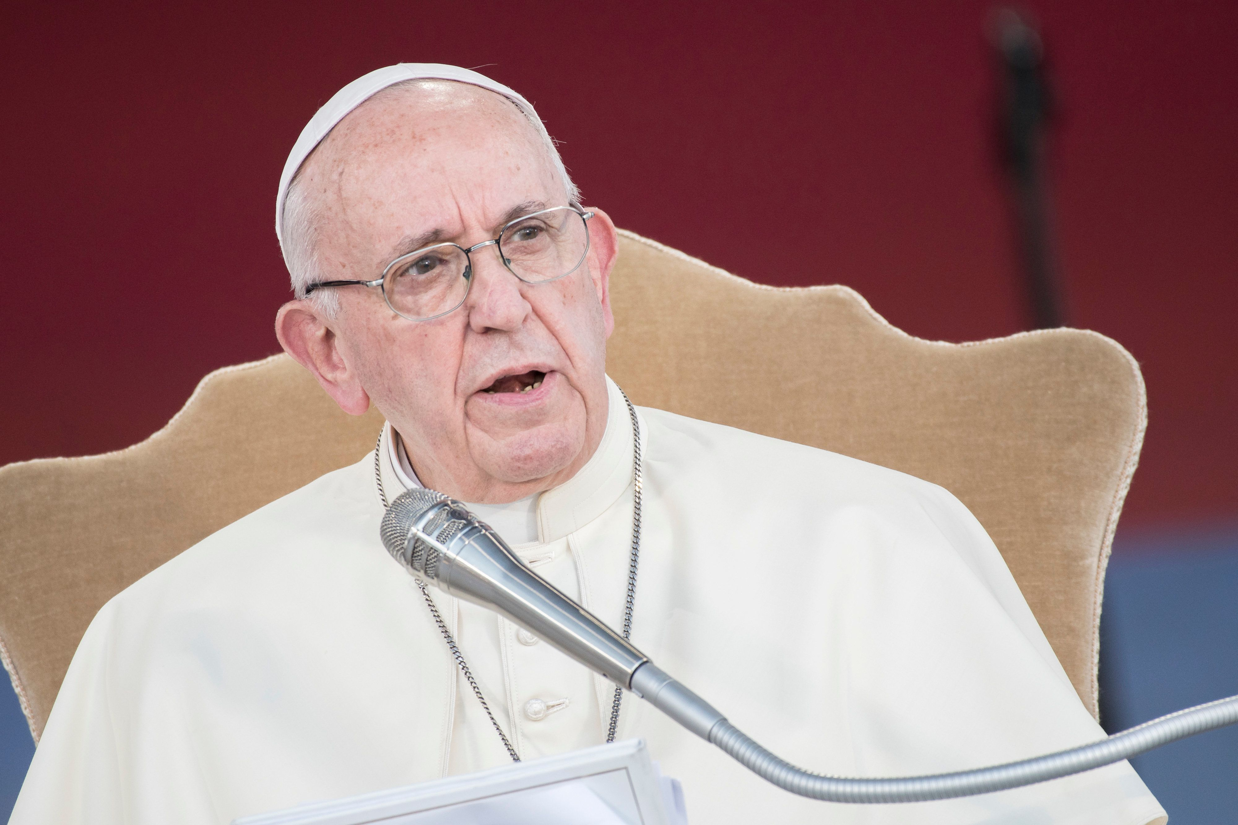 """""""Victims should know that [Pope Francis] is on their side,"""" a Vatican spokesman said in a statement, which called"""