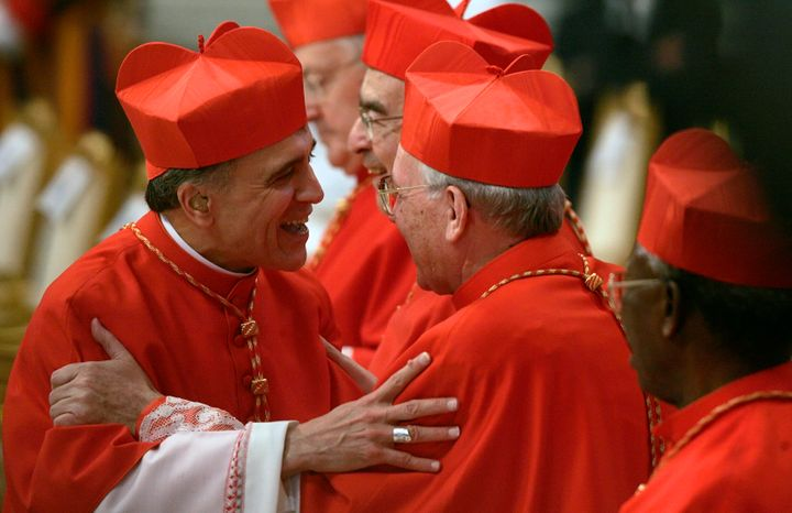 Daniel N. DiNardo (left) at the Vatican in 2007, when he was made a cardinal. Now the president of theU.S. Conference o