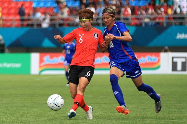 한국 여자축구 대표팀이 대만을 2-1로