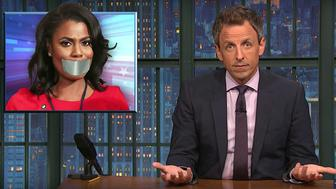 Seth Meyers of Late Night talks about hush money and Omarosa Manigault Newman