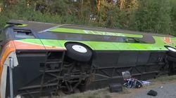Reisebus verunglückt auf A19 nahe Rostock: Mehrere