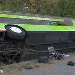 Verunglückter Flixbus: Erste Aufnahmen des Unfallorts auf der