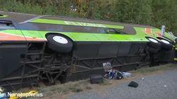 Verunglückter Flixbus: Erste Aufnahmen zeigen den Unfallort auf der