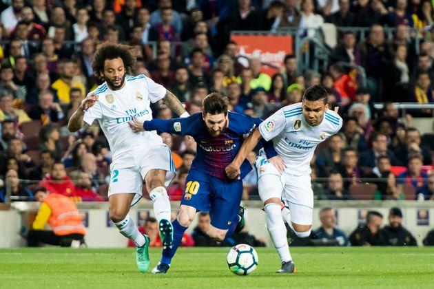 FC 바르셀로나와 레알 마드리드의 '엘 클라시코'. 바르셀로나, 스페인. 2018년