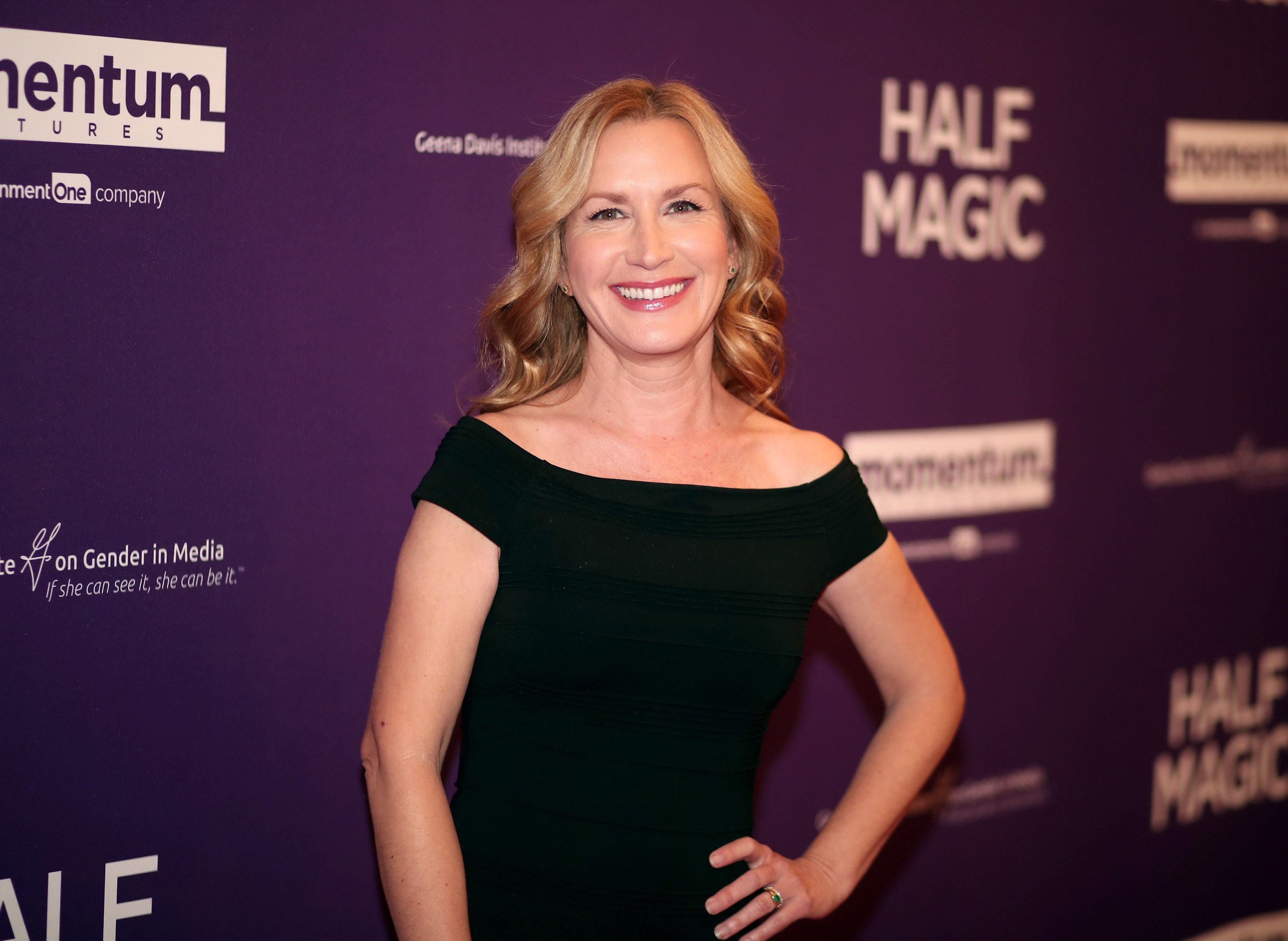WEST HOLLYWOOD, CA - FEBRUARY 21:  Angela Kinsey attends the premiere of Momentum Pictures' 'Half Magic'  at The London West Hollywood on February 21, 2018 in West Hollywood, California.  (Photo by Christopher Polk/Getty Images)