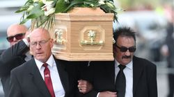Paul Chuckle Carries Brother Barry's Coffin As Hundreds Turn Out For