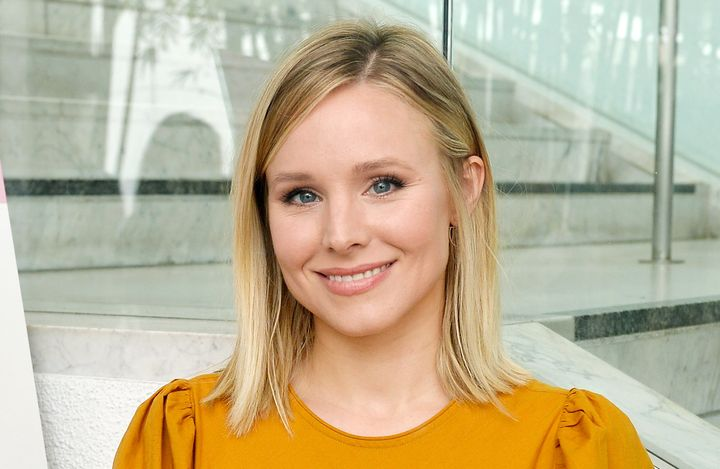 Kristen Bell joked that she needs coffee before she interacts with her kids in the morning, and we totally get it.