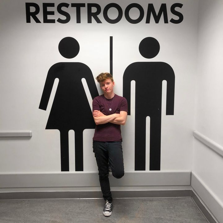 """""""Using the men's restroom means that I have to pray that I'm not already leaking when I walk in there and figure"""