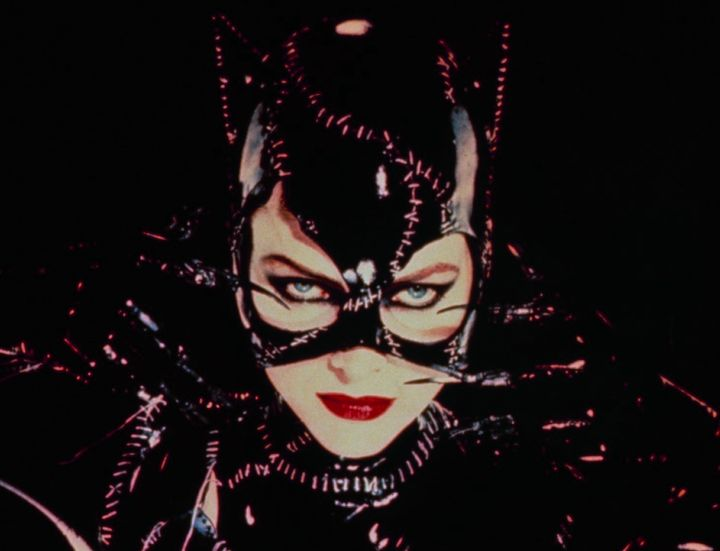 "Michelle Pfeiffer as Catwoman in the film ""Batman Returns."""