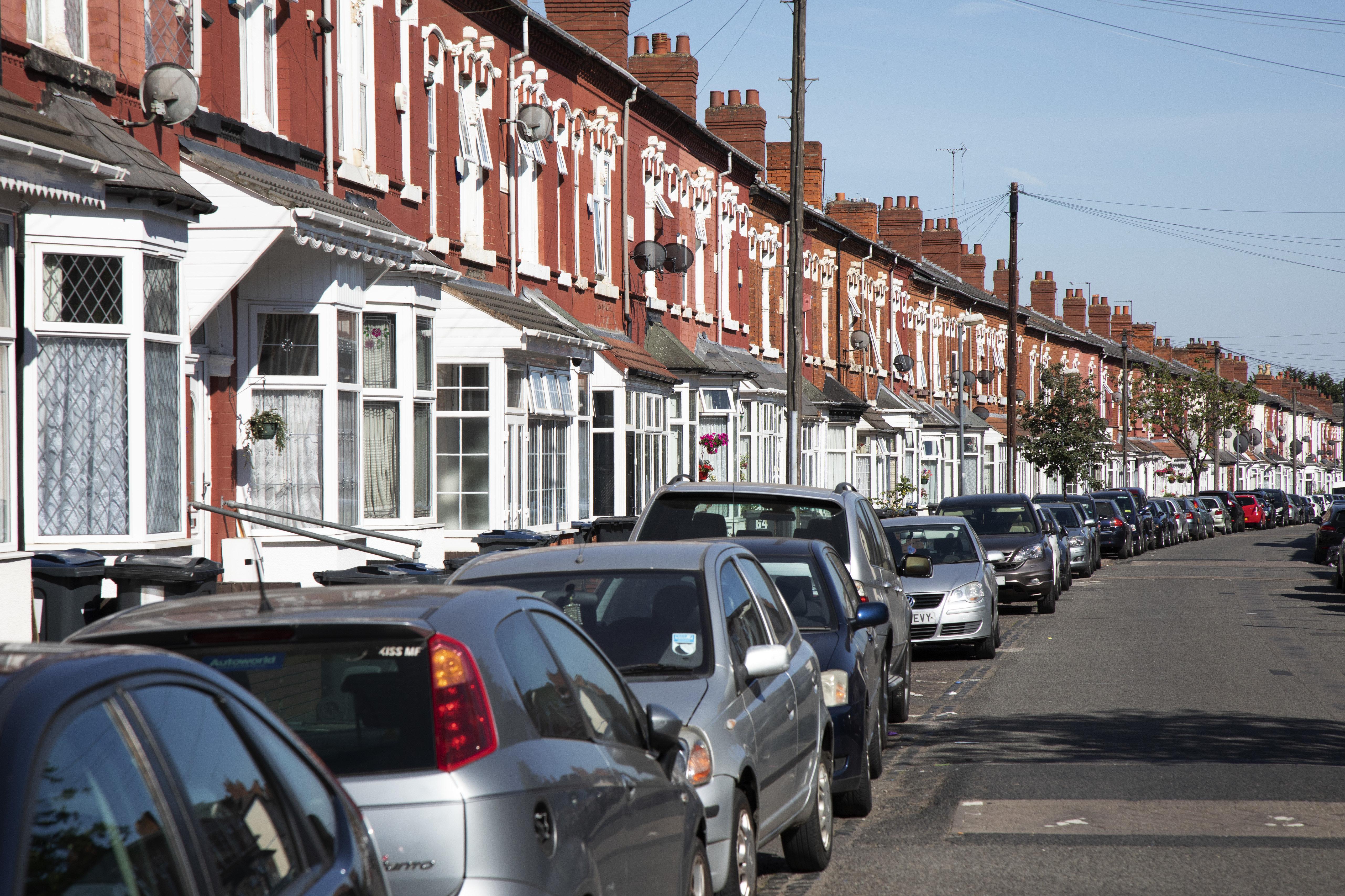 A terraced street in