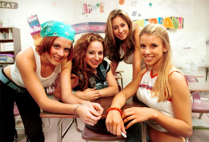 Schuman (far right) with fellow members of girl group Dream on Sept. 27, 2000. She was part of the group between the ages of
