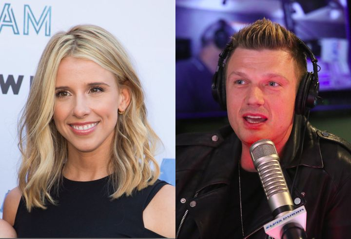 Melissa Schuman (left) says she's glad she publicly told her story accusing Backstreet Boy Nick Carter (right) of raping her