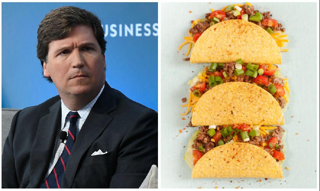"Fox News host Tucker Carlson said of tacos, ""It's American food."""