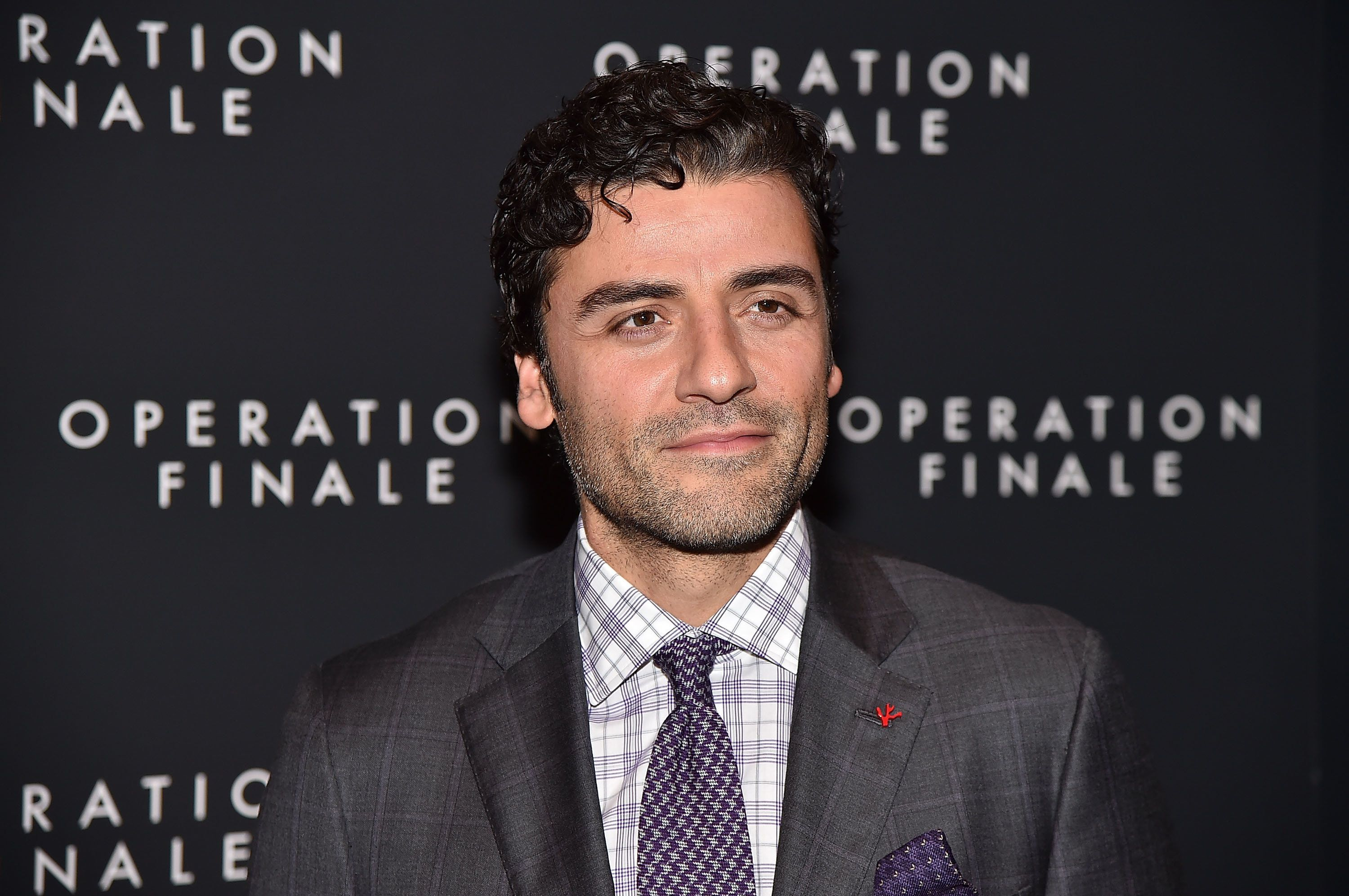 """Oscar Isaac attends the """"Operation Finale"""" premiere."""