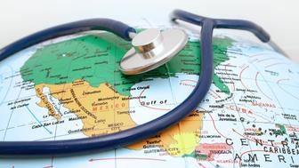 Health care - Stethoscope and Globe