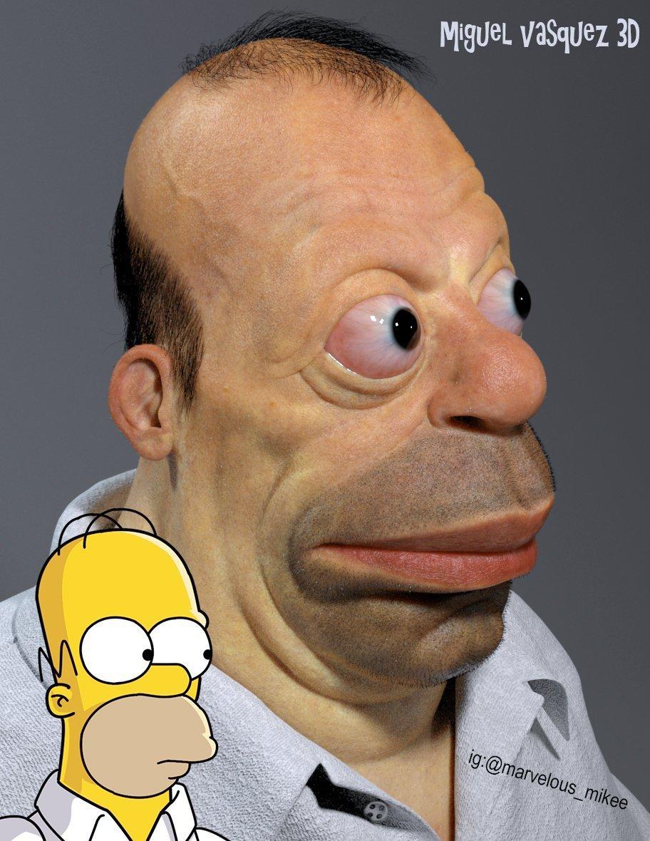Artist Creates Frightening Depiction Of Real-Life Homer