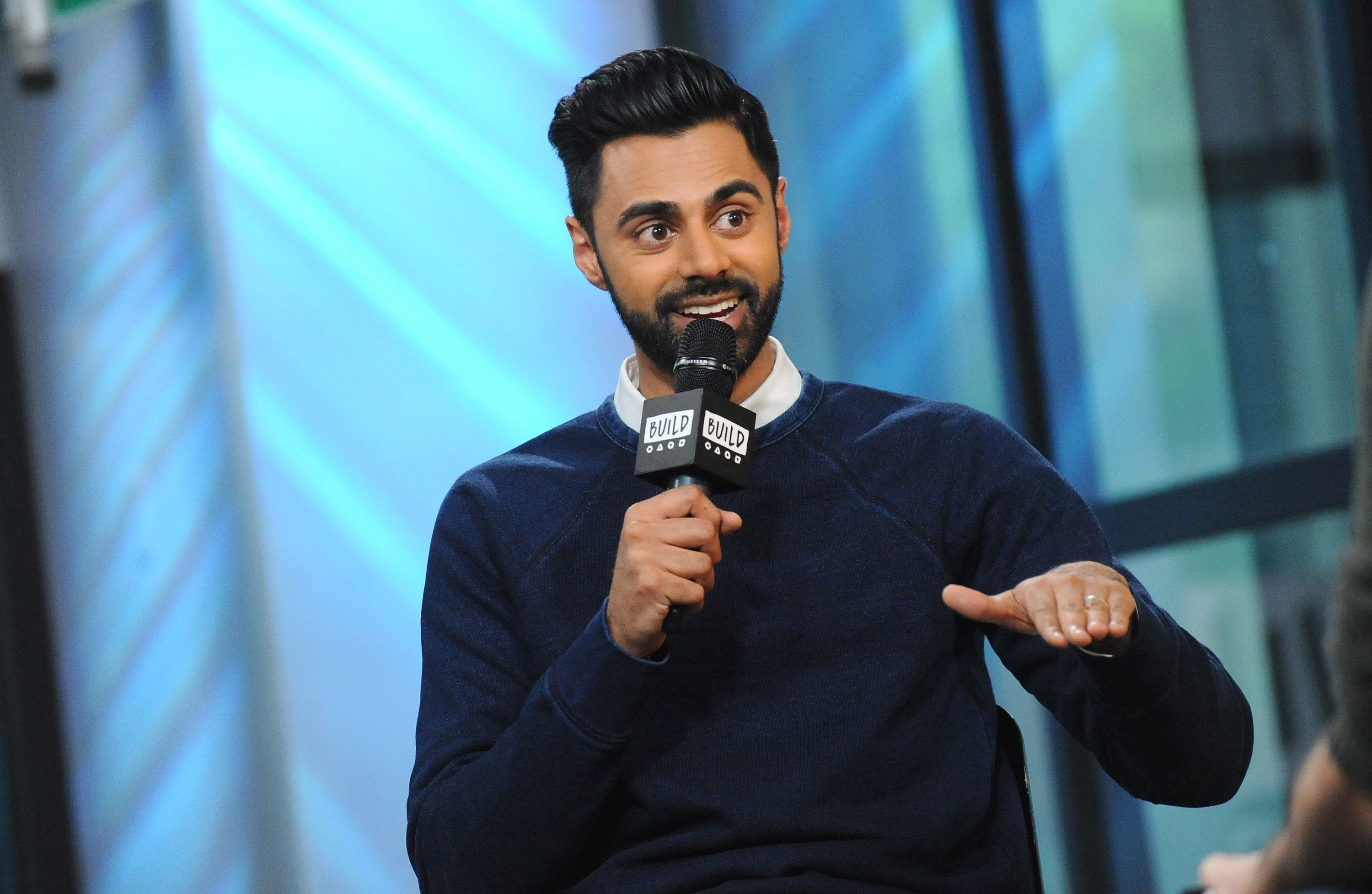 NEW YORK, NY - MAY 25:  Comedian Hasan Minhaj attends Build to discuss his new netflix special 'Hasan Minhaj: Homecoming King' at Build Studio on May 25, 2017 in New York City.  (Photo by Desiree Navarro/FilmMagic)