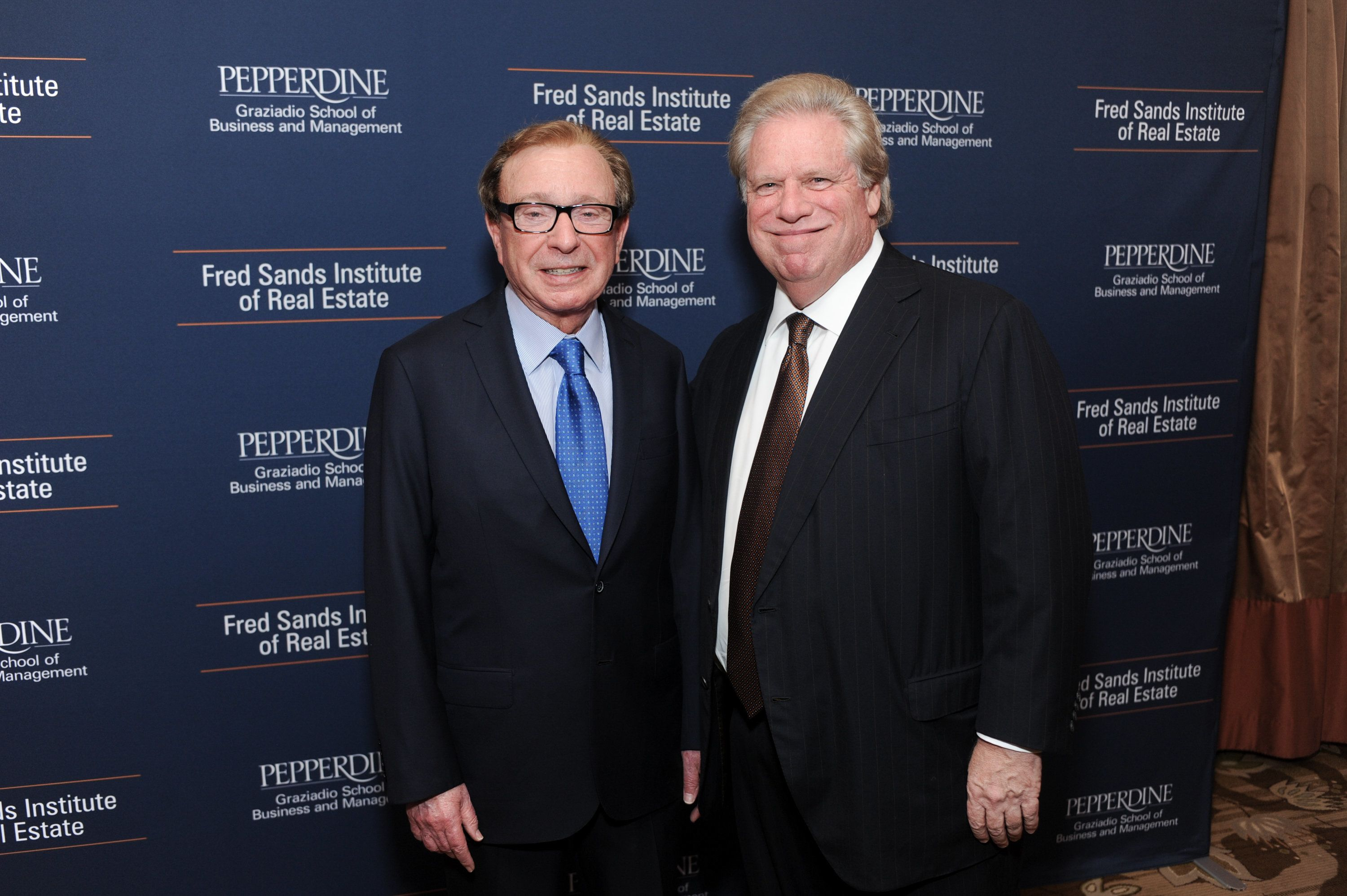 BEVERLY HILLS, CA - JUNE 24:  Fred Sands and Elliot Broidy attend Dedication And Celebration Dinner For The Fred Sands Institute Of Real Estate At Graziadio School, Pepperdine University at the Beverly Wilshire Four Seasons Hotel on June 24, 2015 in Beverly Hills, California.  (Photo by Stefanie Keenan/Getty Images for Pepperdine University)