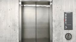 부산 아파트 엘리베이터에서 20대 경비원이 추락해