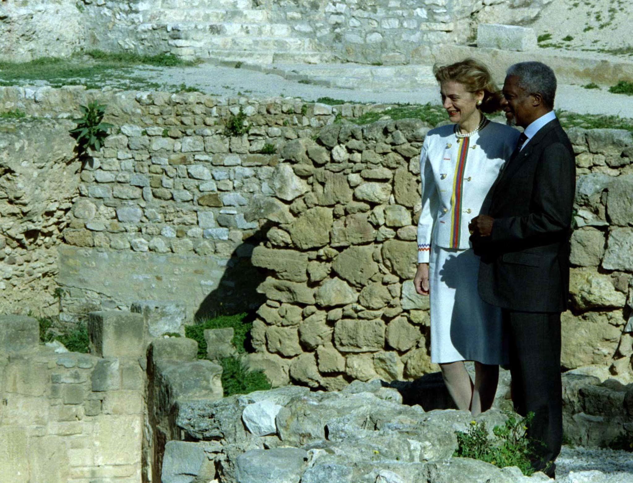 Quand Kofi Annan visitait les ruines de