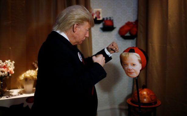 Trump schlägt Merkel – aber nur bei Madame Tussauds in