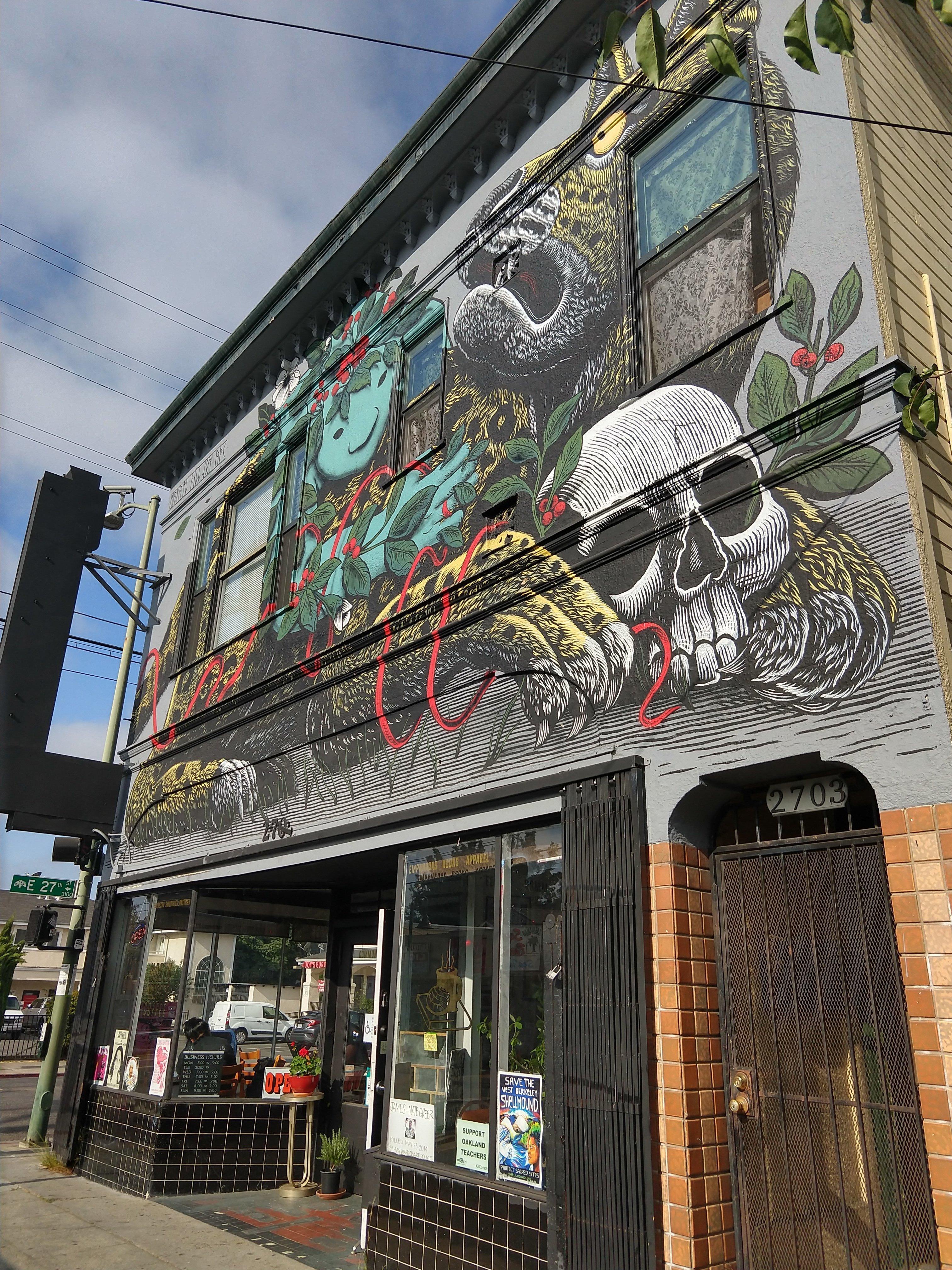 Hasta Muerte's storefront in Oakland, California.