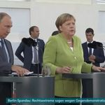 Merkel trifft Putin: Schon die ersten Worte zeigen, wo sich Streit