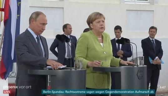 Merkel trifft Putin – schon die ersten Worte zeigen, wo sich Streit