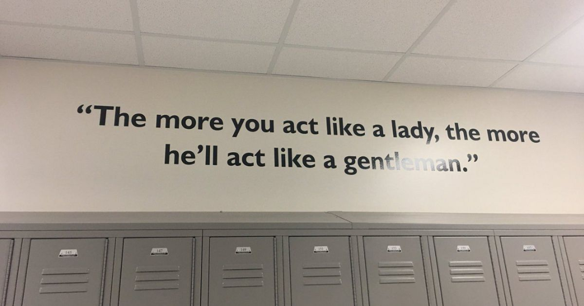 Houston School Removes Sexist Quote From Hallway Amid Outrage