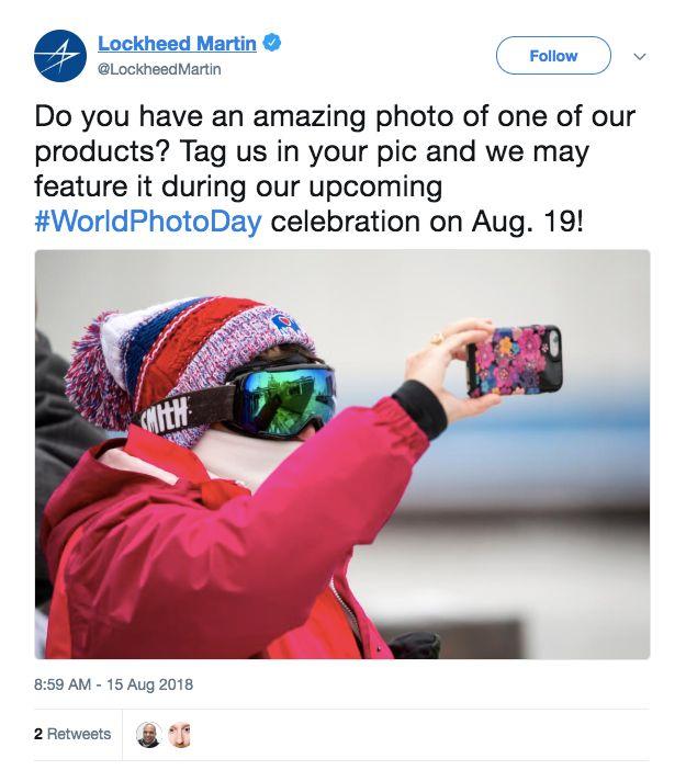 Lockheed Martin's social media campaign