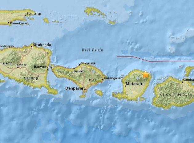 인도네시아 롬복섬에서 규모 6.3 강진이