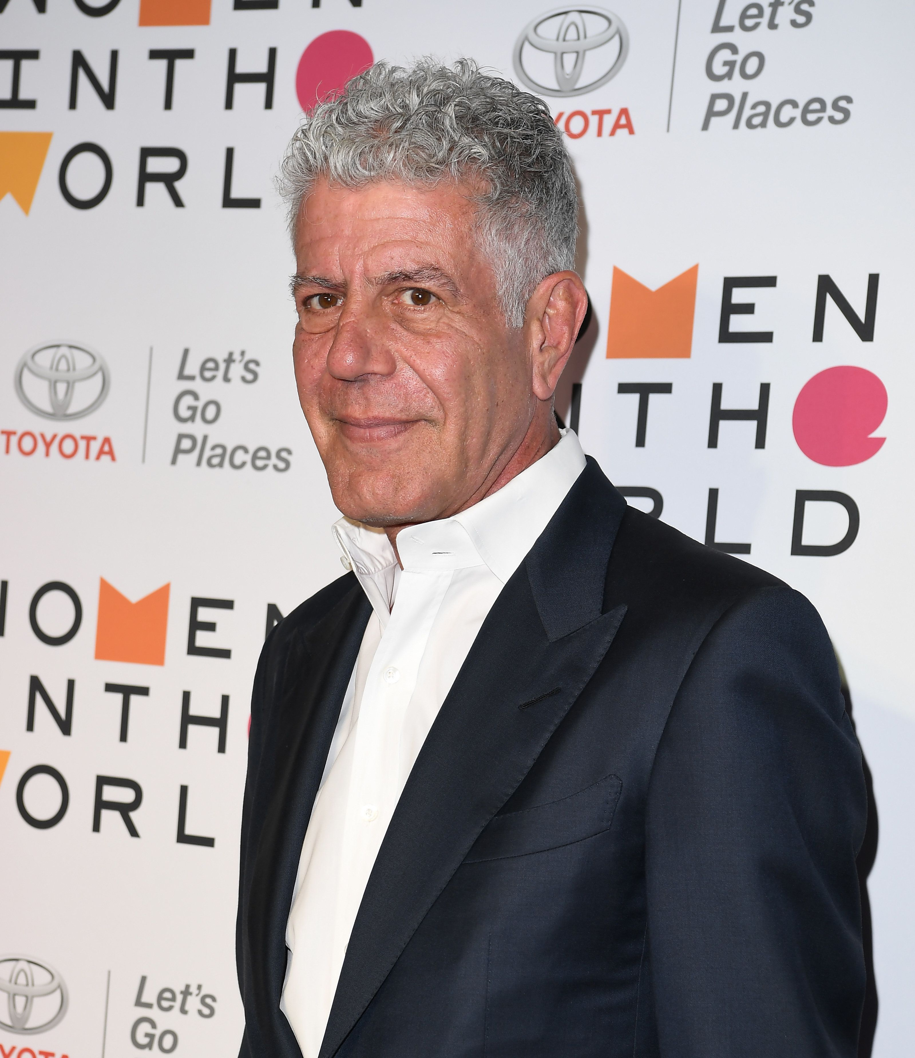 Anthony Bourdain attends the 2018 Women In The World Summit at Lincoln Center on April 12, 2018 in New York City. (Photo by ANGELA WEISS / AFP)        (Photo credit should read ANGELA WEISS/AFP/Getty Images)