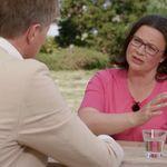 Andrea Nahles im ZDF: Als Kritik am SPD-Kurs aufkommt, blockt sie